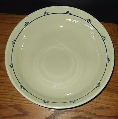 Friendship Pottery Roseville OHIO USA BLUE FLORAL Pasta Serving Bowl 13 1/4""