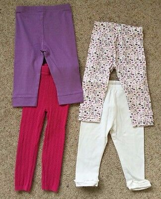 4 Pairs Baby Girls Leggings  Age 9-24  Months  Ex Cond