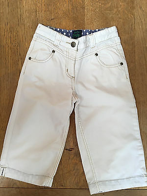 Mini Boden White short trousers, Age 5-6 yrs