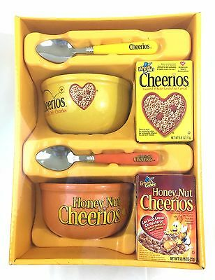 GM Cheerios Cereal Set-Honey Nut Cheerios, Bowls & Spoons & Boxes Holiday 2005