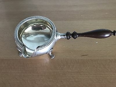Fisher Sterling Silver 4-Ftd Gravy Sauce # 1096 Wood Handle Excellent Condition
