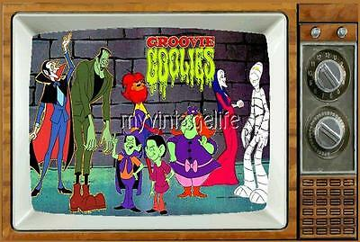 "GROOVIE GOOLIES Fridge MAGNET 2"" x 3"" art SATURDAY MORNING CARTOONS"