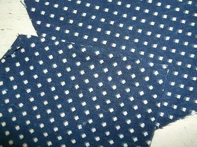 ~Back In Time Textiles~Antique 1870 early Indigo Blue Fabric~