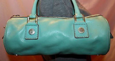 MICHAEL KORS Small Light Teal Leather Tote Satchel Doctor Purse Hand Bag