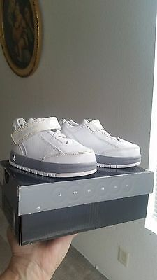Jordan Jumpman Boys Girls Sneakers Shoes White /Metallic Silver Toddler US Sz 5c