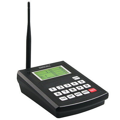 SINGCALL Wireless Hotel Paging System Guest Waiting System 40 Bells,Coasters