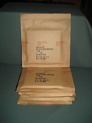 Military Water Filter Purification Pads # 4610. Pack of 9 sealed.