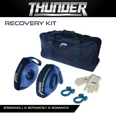Thunder Recovery Kit - Bow Shackles, Gloves, Straps, Gear, Essentials, 4X4, 4Wd