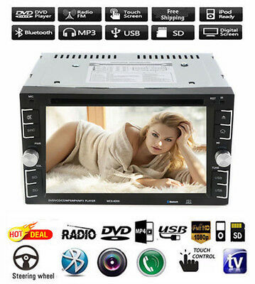 "Double 2Din 6.2"" Car Stereo DVD CD MP3 Player HD In Dash Bluetooth TV Radio Top!"
