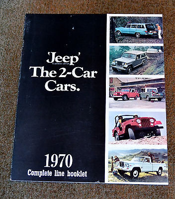 VTG 1970 Advertising Jeep 4WD 2 Car Cars Brochure 69-12