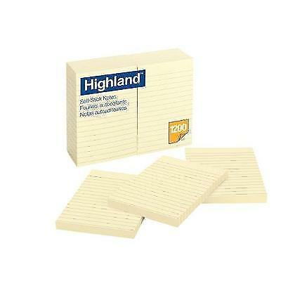 Highland Notes, 4 x 6-Inches, Yellow, 12-Pads/Pack New