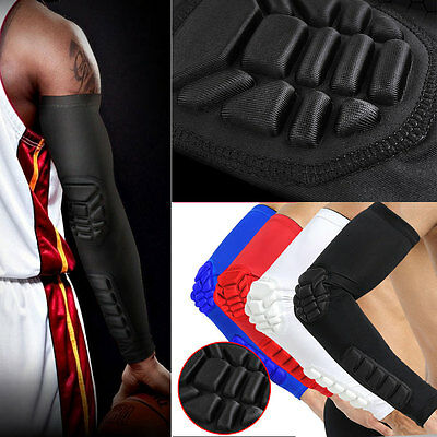 Honeycomb Sports Gear Cycling Basketball Long Arm Sleeve Elbow Support Protector