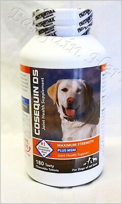 Cosequin DS Plus MSM Max Joint Health 180ct for Dogs All Sizes New Free Shipping