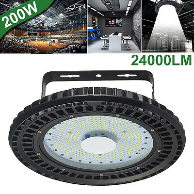200W UFO LED High Bay Light Factory Warehouse Shed Industrial Lighting 6500K