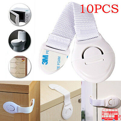10/20 Kids Child Baby Proofing Safety Locks Door Fridge Cupboard Cabinet Drawer