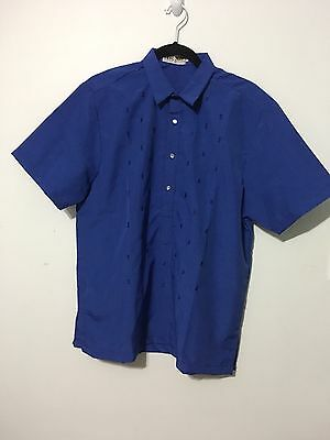 Philippine Men's Barong Tagalog Contemporary Size Large Blue