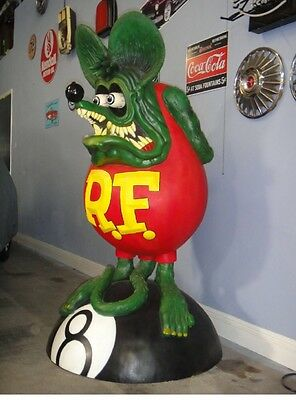"Rat Fink Ed ""Big Daddy"" Roth Life Size 8 Ball Statue 1 of 10 known. Very Rare!!!"