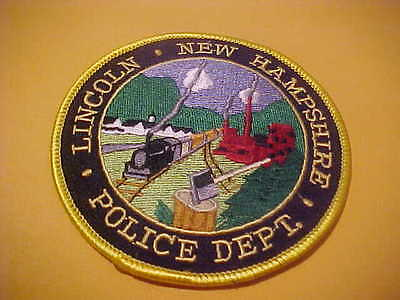 Lincoln  New Hampshire Police Patch Shoulder Size New 4 X 4 Inch