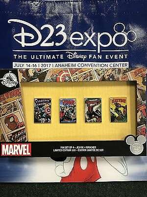 D23 Expo 2017 Marvel Pin Set of 4 LE 500!