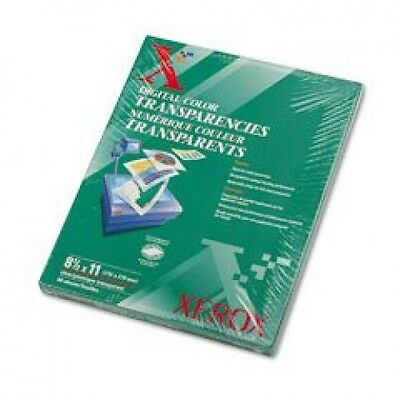 "Xerox Digital Color Transparencies, 8.5"" x 11"", 50 Sheets/Box (3R5765)"
