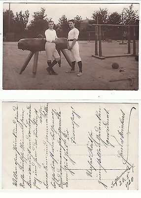 Seifhennersdorf,Turner am Barren Turnverein,sporty male Foto RPPC 1920 Gay Int
