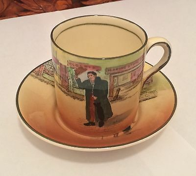 Royal Doulton ~ Dickens Ware ~ Coffee Cup - Mr Squeers  & Mr Micawber Plate