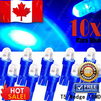 10x Red T10 5050 5-SMD Car Interior License Plate Map Dome LED Light Bulbs W5W