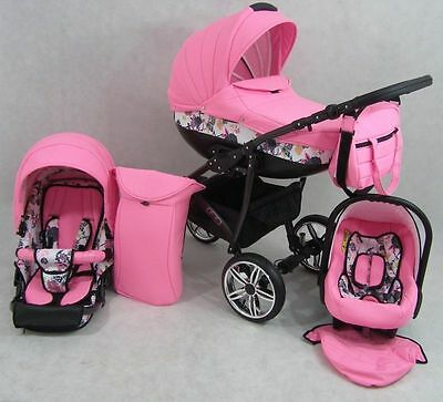 CLEO II Pram Child Stroller 3in1 - Pushchair + Car seat NEW  31 Colors