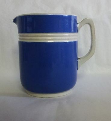 Rare vintage Fowler Ware, blue and white, 3/4 cup hot water jug. Circa 1930's.