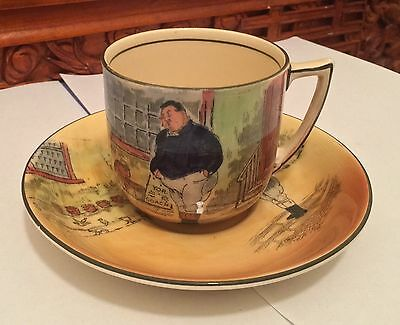 Royal Doulton ~ Dickens Ware ~ Tea Cup And Saucer - The Fat Boy