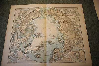 Stielers Hand Atlas map of the North Pole 1891