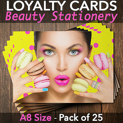 Loyalty Cards - Pack of 25 - massage therapists/beauty salons/nail bar, A8 mini