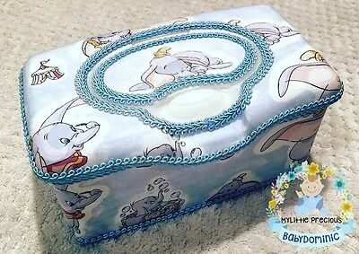 Dumbo Wipes Large Box Tub Dispenser. Disney Dumbo Wipes Case Container Box