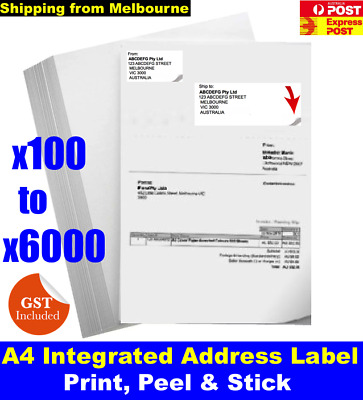 Integrated Address Label For eBay Sales Manager Packing Slip Address printing