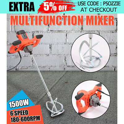 Drywall/Mortar Mixer Plaster Cement Tile Adhesive Render Paint Six-Speed