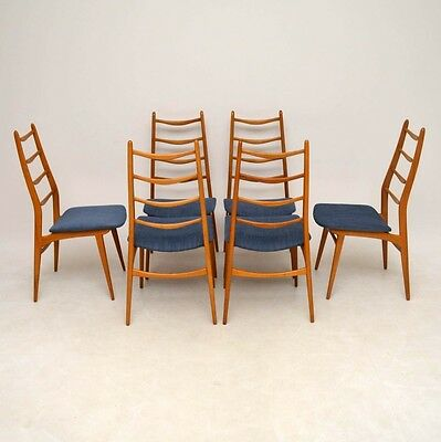 SET OF 6 RETRO DANISH DINING CHAIRS VINTAGE 1960's
