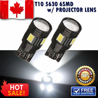 10x T10-8SMD W5W 194 168 Wedge Xenon White LED Dome Map Door Light Bulbs 12V