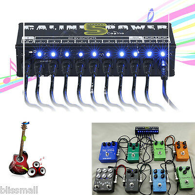 10CH Isolated LED Power Supply Output for 9V/12V/18V Guitar Effect Pedal Board