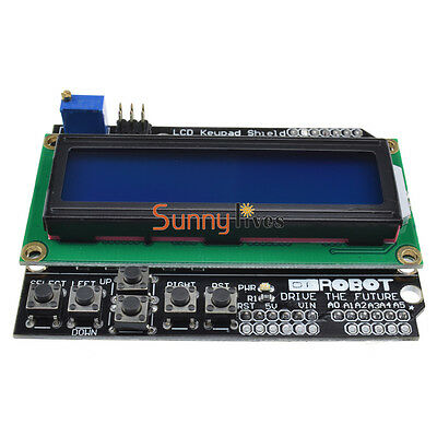Blue Backlight 1602 LCD Board Keypad Shield For Arduino LCD Duemilanove Robot