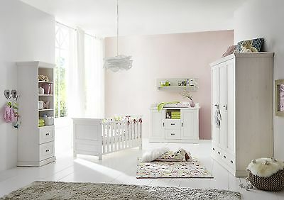 welle kinderzimmer babyzimmer 4 teilig kiefer massiv. Black Bedroom Furniture Sets. Home Design Ideas