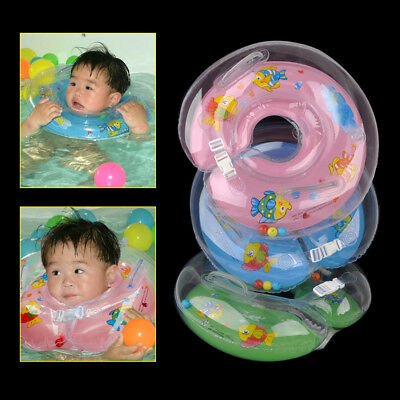 Kid Baby Infant Newborn Bath Swimming Neck Float Tube Ring Inflatable Safety Aid