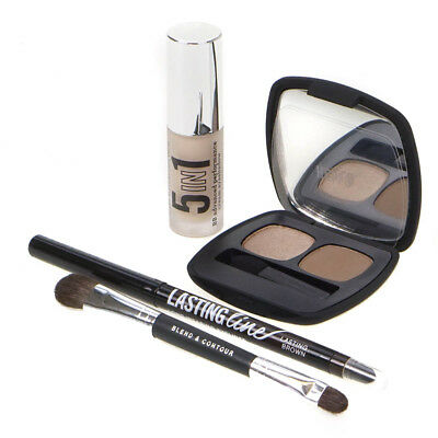 BareMinerals Bare Tutorials Neutral Eyes Kit Ready Eyeshadow Eyeliner + Brush