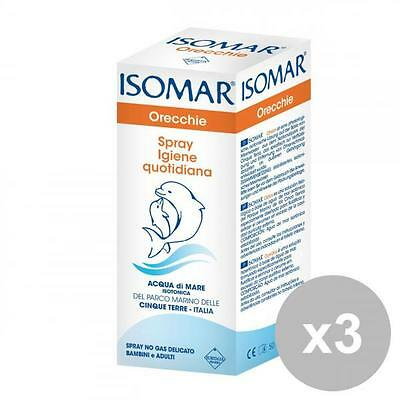 ISOMAR Set 3 Ears Spray Daily Hygiene 50 Ml