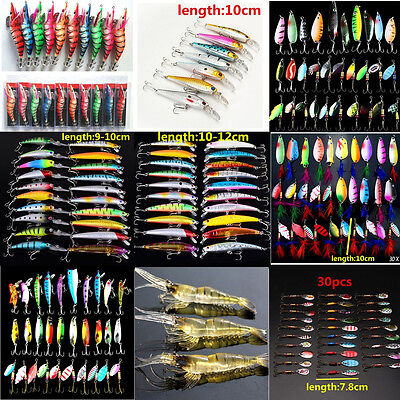 Metal Mixed Spinners Fishing Lures Pike Salmon Crank Baits Bass Trout Fish Hooks