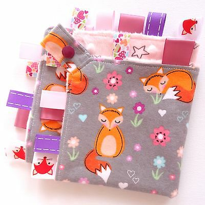 Sleepy Fox Taggie Security cuddle Blanket Toy comforter dummy clip holder