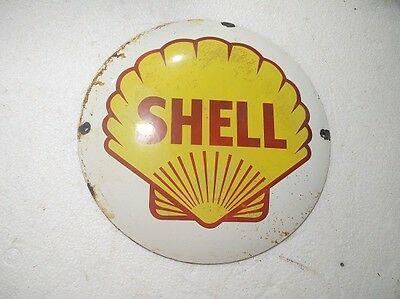 Porcelain Sign Shell  11.5 Inch