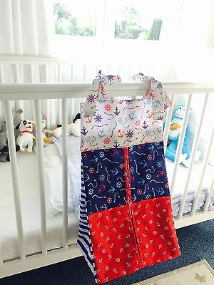 Nautical Baby Nappy Stacker/Holder, Bedroom tidy for boy or girl.