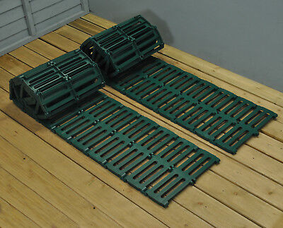 Set of 2 x 3m Green Instant Waterproof Roll Out Path Track for Garden Lawn