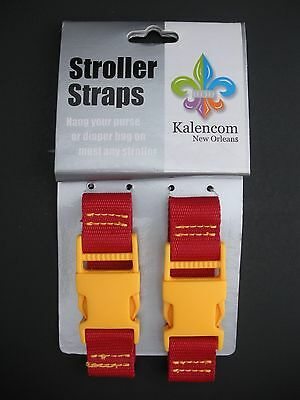 Kalencom Stroller Straps for Diaper Bag Purse Red Yellow Stroller Accessory