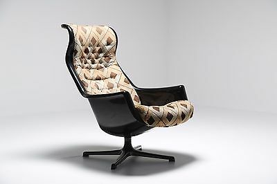 VINTAGE ALF SVENSSON GALAXY Retro MID CENTURY Swivel Armchair Chair 60S 70S